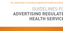 Guidelines for advertising a regulated health service
